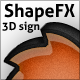 ShapeFX - 3D Sign - GraphicRiver Item for Sale