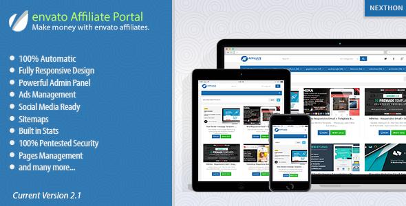 CodeCanyon - envato Affiliate Portal v2 3 | Scripts