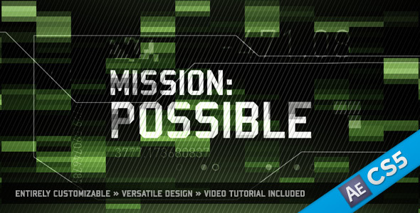 After Effects Project - VideoHive Mission Possible 983666
