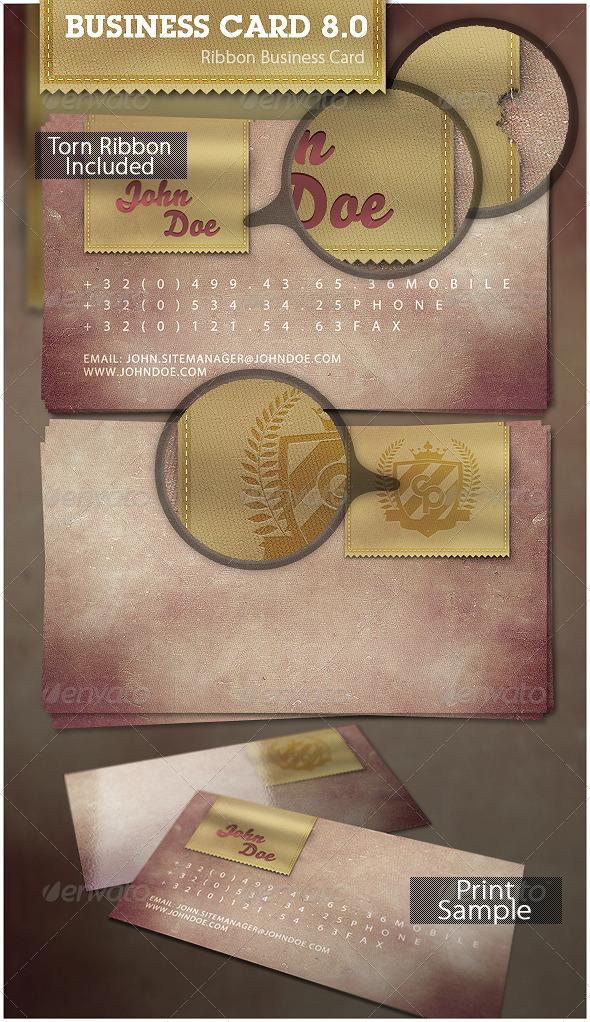 GraphicRiver Ribbon Business Card 136191