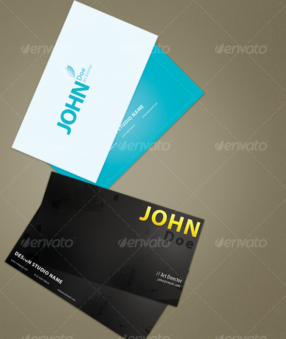 GraphicRiver Simple and Grunge Business Cards 34725