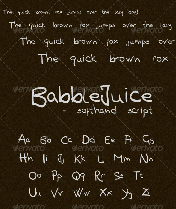 GraphicRiver Babblejuice freehand 136321