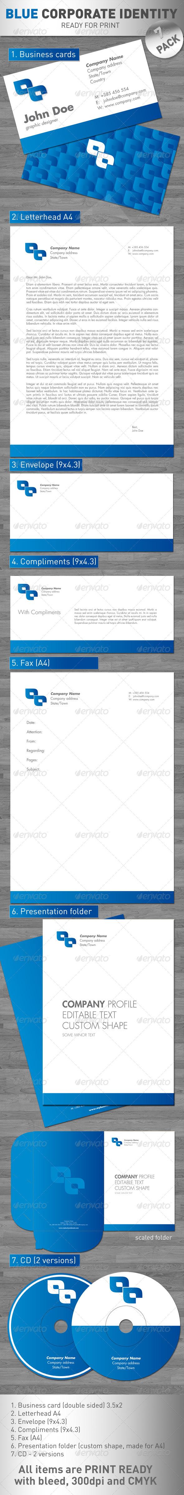 GraphicRiver Blue Corporate Identity 113546