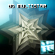 3D rotating metalic star - ActiveDen Item for Sale