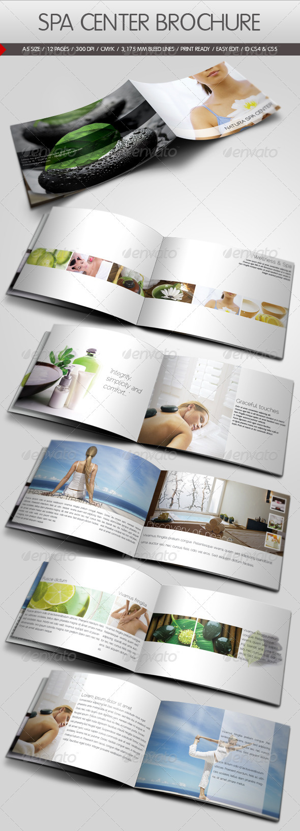 GraphicRiver Spa Center Brochure Template 526380
