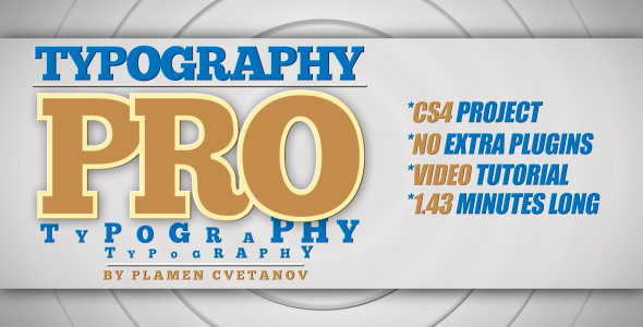 After Effects Project - VideoHive Typography Pro 137559