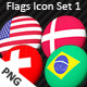 Country Flags PNG Icon Set 1 - GraphicRiver Item for Sale