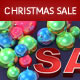 Christmas Sale with Glass Bulbs - GraphicRiver Item for Sale