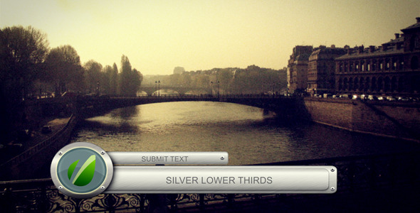 After Effects Project - VideoHive Silver Lower Thirds 1120644