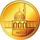Vector Arab Gold Dinar Coin with the Mosque - GraphicRiver Item for Sale
