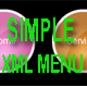 SIMPLE XML HORIZONTAL MENU - ActiveDen Item for Sale