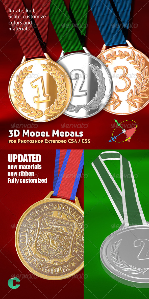 GraphicRiver 3D Object Medal 136440