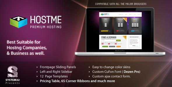 ThemeForest Hostme Premium Hosting & Business Template 138520