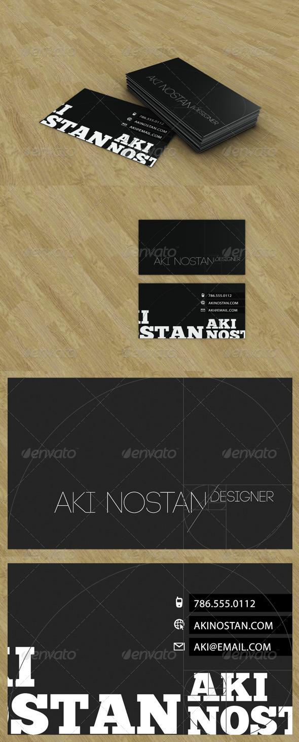 3DOcean Business Card Presentation 138543