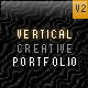 Vertical Creative Portfolio V-2 - ActiveDen Item for Sale