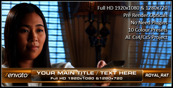 After Effects Project - VideoHive Lower Third Square 138742