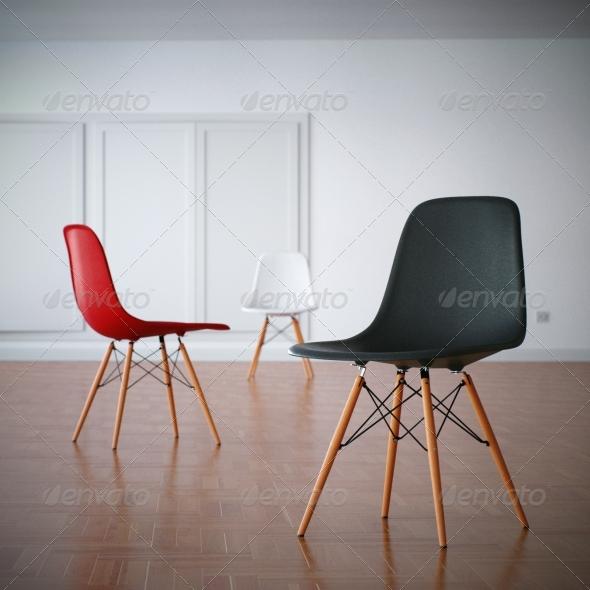 3DOcean Charles Eames DSW Chair 1948 139056