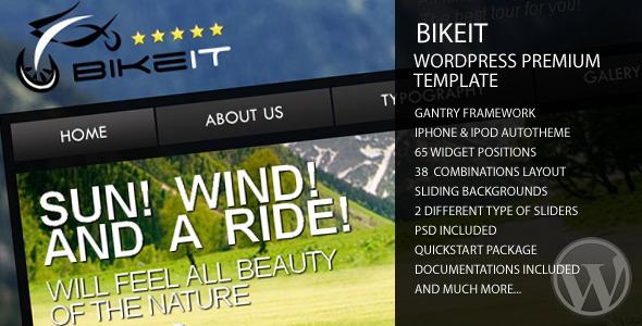 BikeIT - Premium WordPress Template