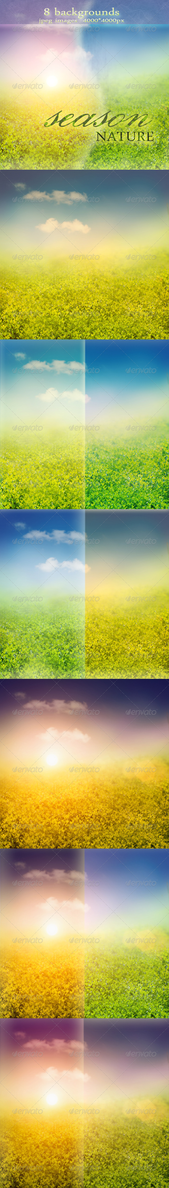 GraphicRiver Nature Backgrounds with Spring or Summer Landscape 1130297