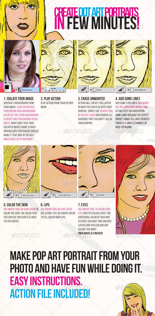 GraphicRiver Pop Art Dot Comic Portrait Action 1130996