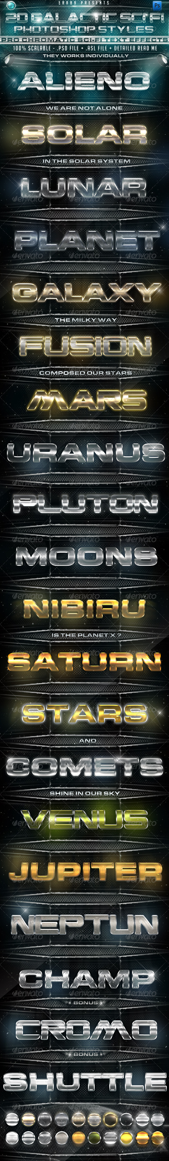 GraphicRiver 20 Galactic Sci Fi PS Styles 1133226