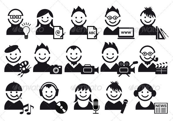 GraphicRiver Creative People Icons 1133536