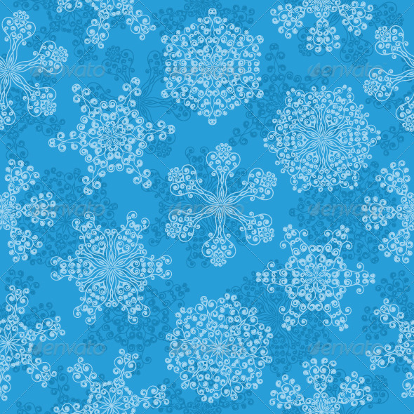 Graphic River Seamless pattern with a snowflakes Vectors -  Conceptual  Seasons/Holidays  Christmas 139738