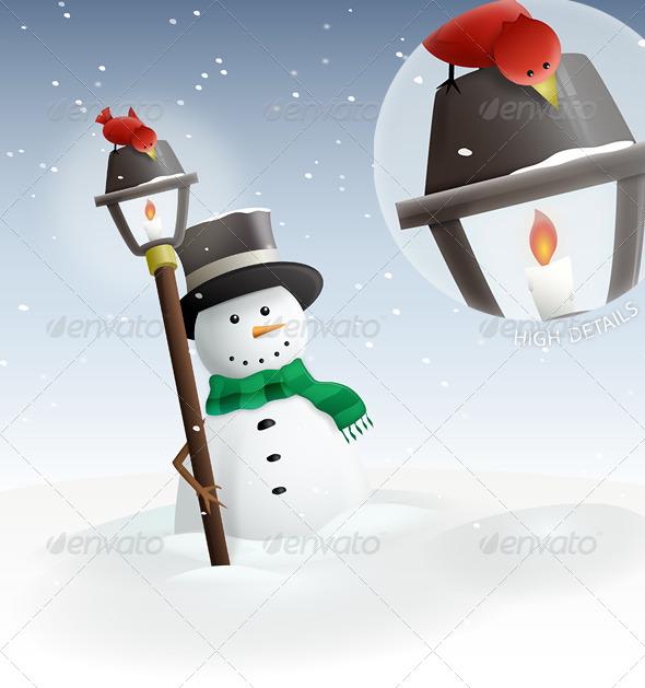 GraphicRiver Winter Land Snowman 139960