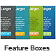 Feature Boxes with Textures - GraphicRiver Item for Sale