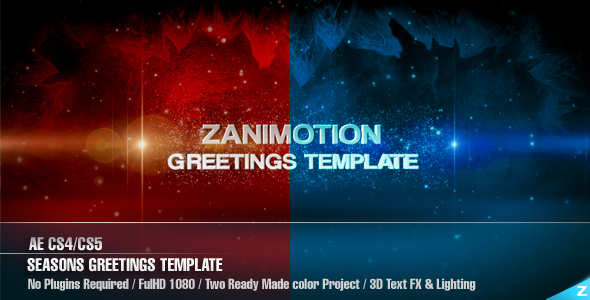 After Effects Project - VideoHive Season's Greetings Template 141101