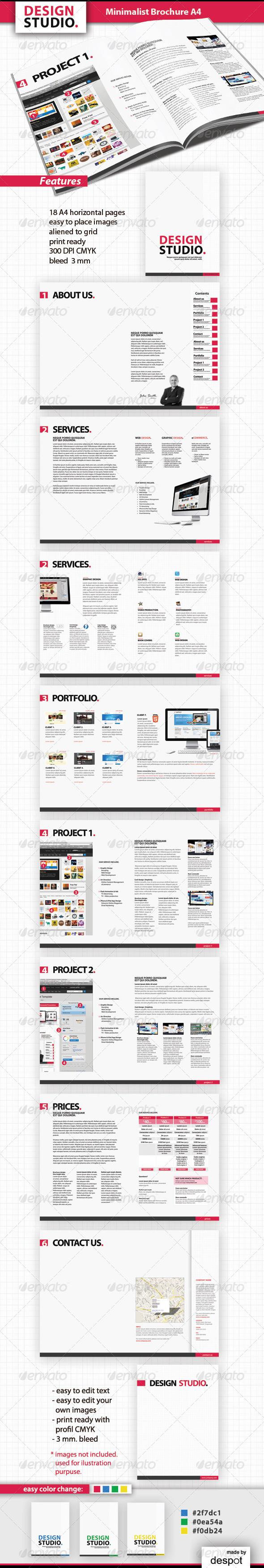 GraphicRiver Minimalist Brochure A4 1147521
