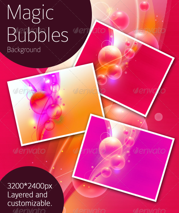 GraphicRiver Magic Bubbles Background 141192
