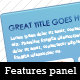 Clean Product Features Panels - GraphicRiver Item for Sale