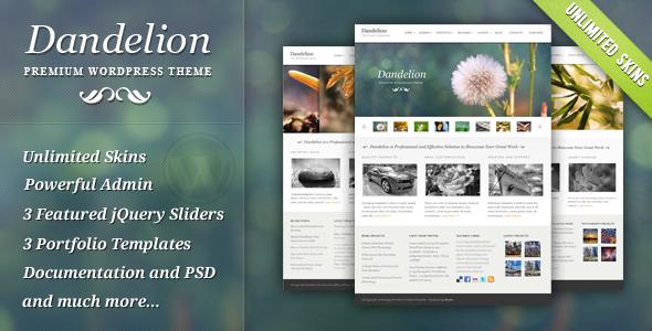 ThemeForest Dandelion Powerful Elegant WordPress Theme 136628