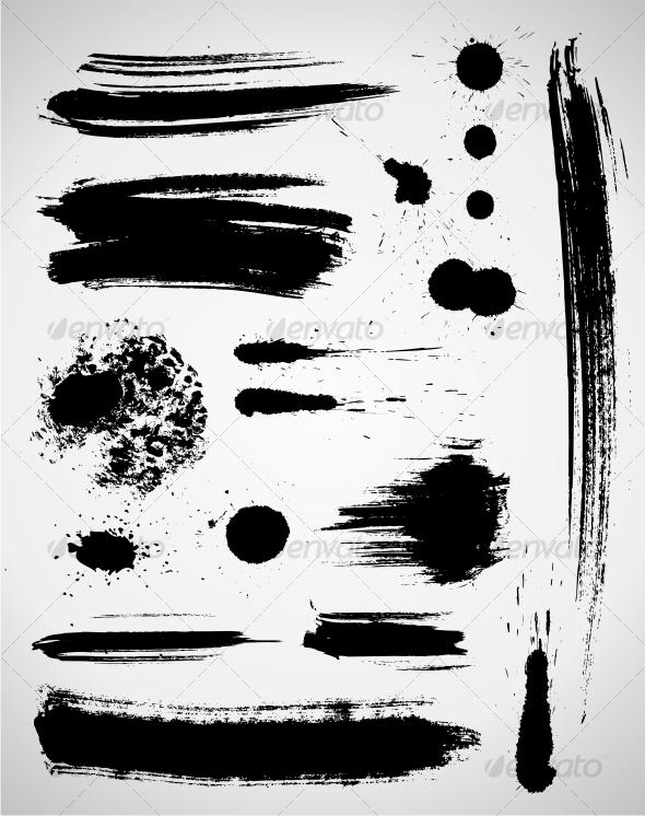 GraphicRiver Grunge elements 46730
