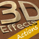 3D Photoshop Action v.1 (paper effect) - GraphicRiver Item for Sale