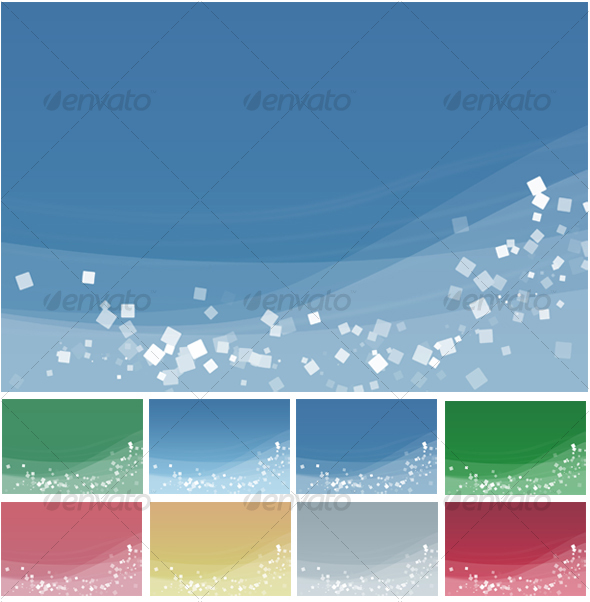 GraphicRiver Abstract Waves & Squares Backgrounds pack 31983