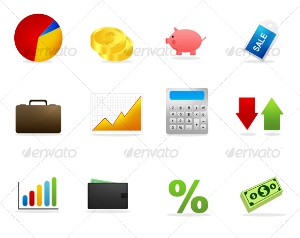 GraphicRiver Finance & Business Icons 37455