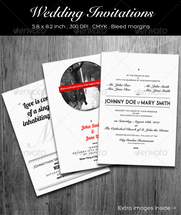 GraphicRiver Wedding Invitations 141763