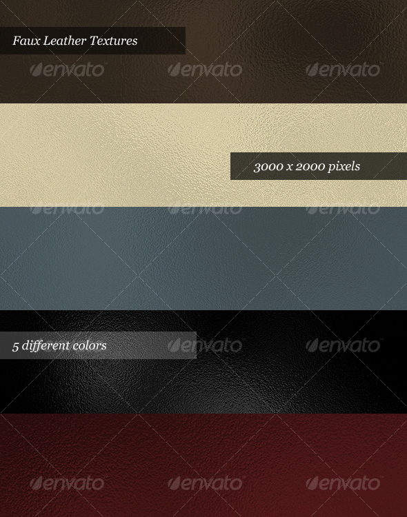 Graphic River Faux Leather Textures Pack of 5  Graphics -  Backgrounds 30811