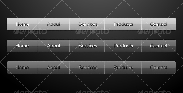 GraphicRiver Clean Web Navigation Menu 31528