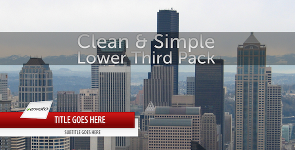 After Effects Project - VideoHive Clean & Simple Lower Third Pack 139201