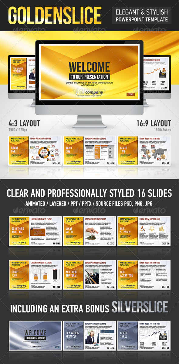 GraphicRiver GoldenSlice Template 1157355