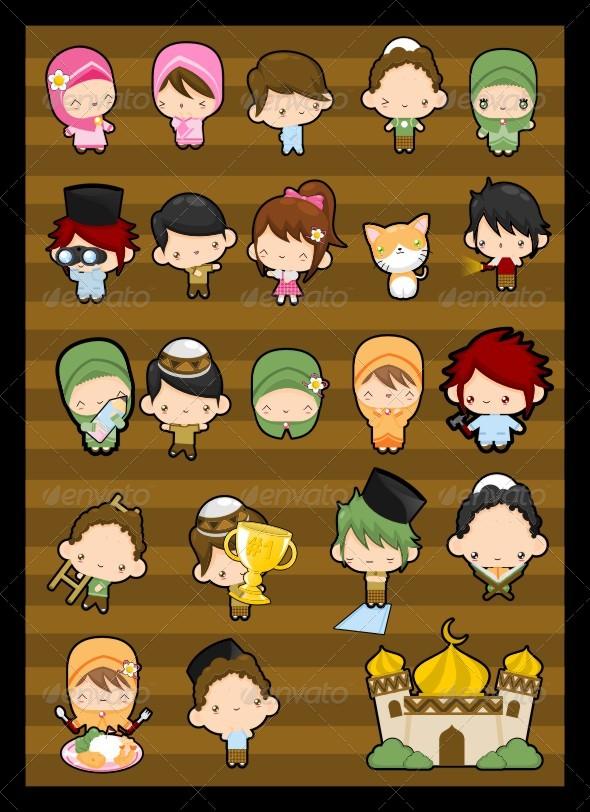GraphicRiver Islamic Cartoon Character 142319