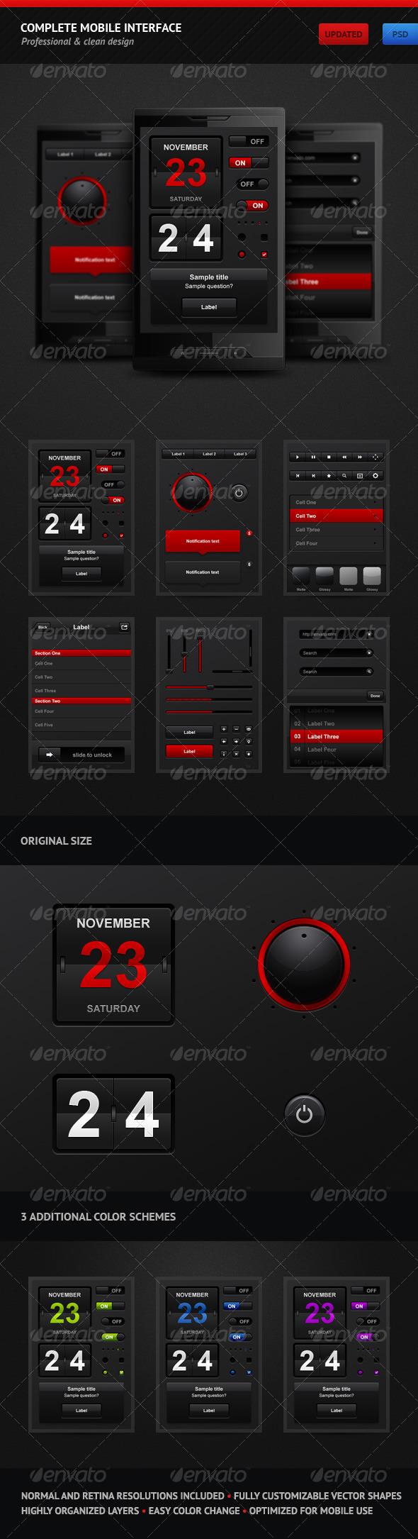 GraphicRiver Complete Mobile Interface 144245