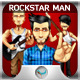Editable Rockstar - Rockband Mascot - GraphicRiver Item for Sale