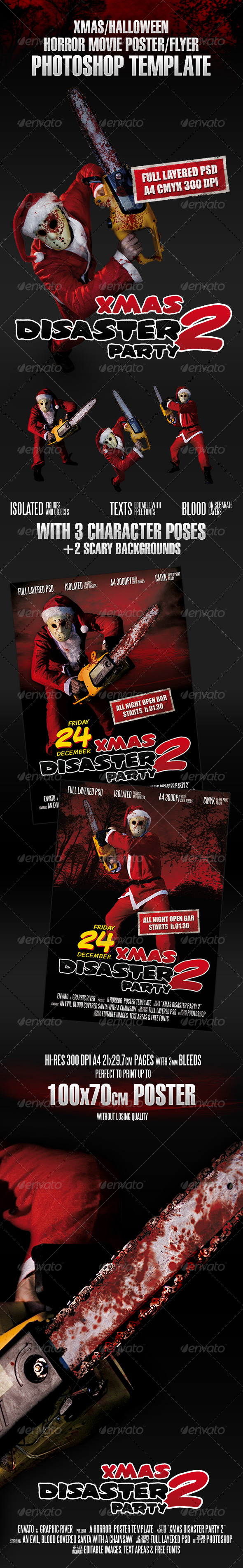 GraphicRiver Xmas Horror Flyer Template 142636