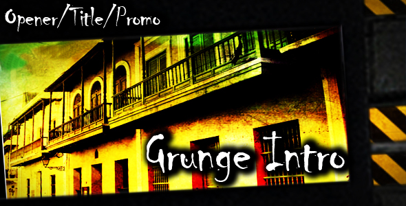 After Effects Project - VideoHive Grunge Intro 142047