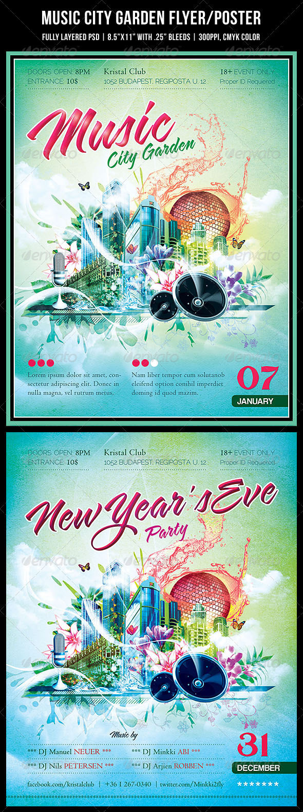 GraphicRiver Music City Garden Party Poster Flyer 1154365