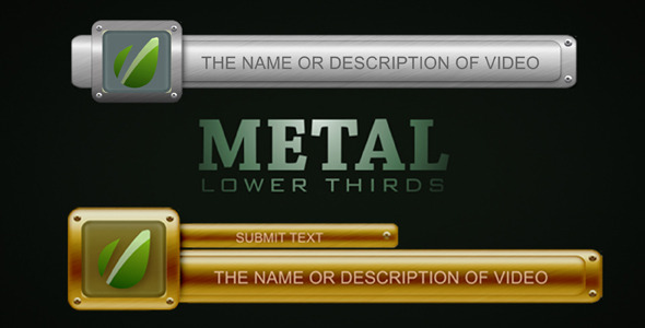 After Effects Project - VideoHive Metal Lower Thirds 1147382